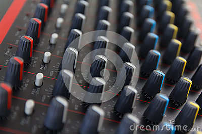 Part of control an audio sound mixer