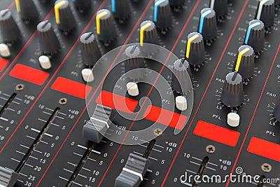Part of control an audio sound mixer