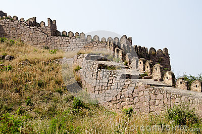 Battlements, Golcanda Fort