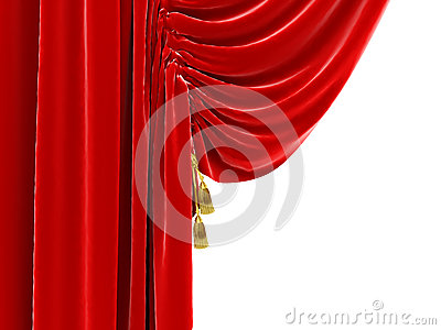 Part of curtains