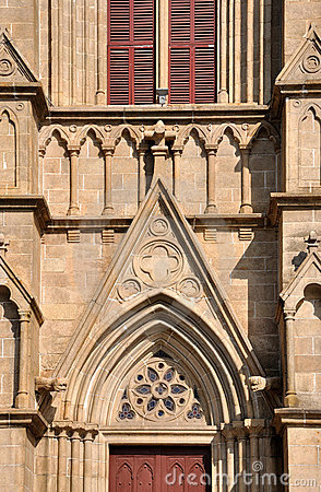 Part and detail of Catholic church external