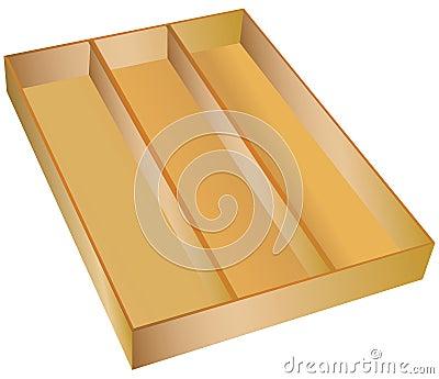 3-Part Drawer Wooden Organizer