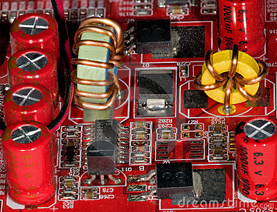 Part of the electric board