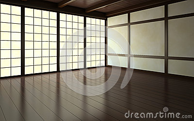 Part of the empty room