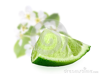 Part of fresh lime