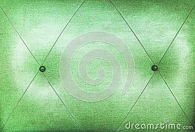 Part of green sofa