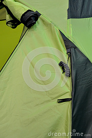 Part of green tent