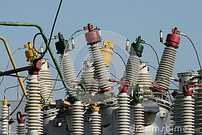 Part of high-voltage substation