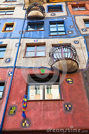 Part of Hundertwasser house