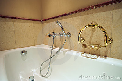 Part of luxury bathroom