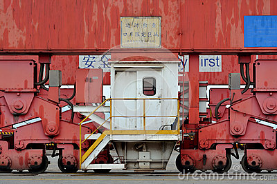 Part of machine in container goods yard
