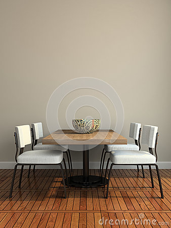 Part of the modern dining-room