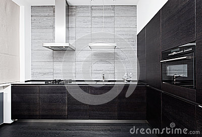 Part of modern minimalism style kitchen