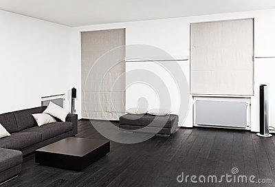Part of modern sitting room interior