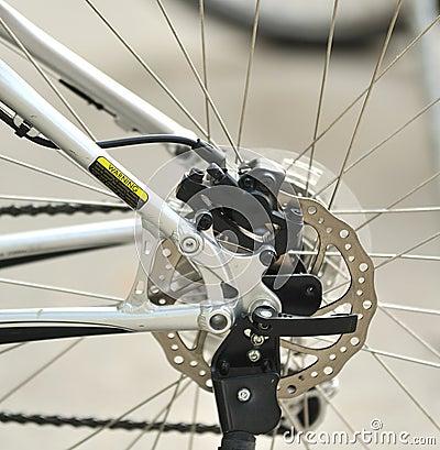 Part of Mountain Bike brake disc
