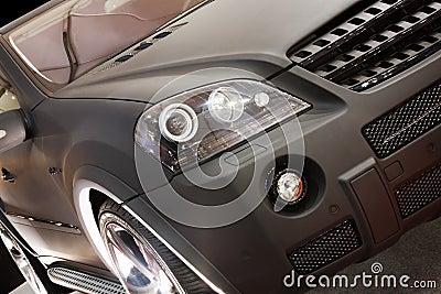 Part of new black car