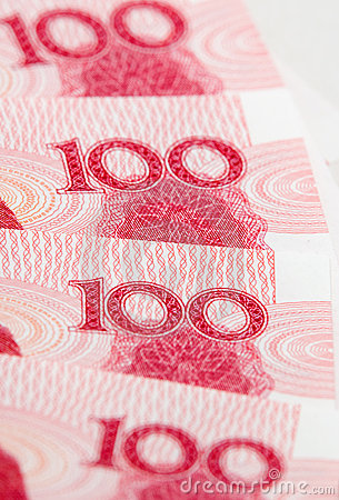 Free Part Of One Hundred Yuan Notes Stock Photo - 8163500