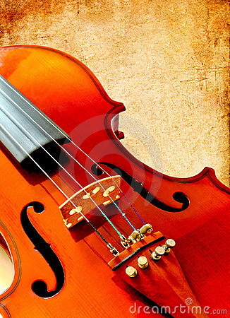 Free Part Of Violin On Grunge Paper Stock Images - 19254794
