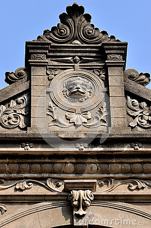 Part of old architecture with featured carving