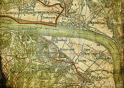 Part of an old tourist map.