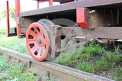Part of railway pump trolley