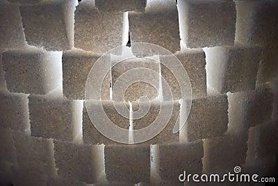 Part of sugar tower, closeup, backlight