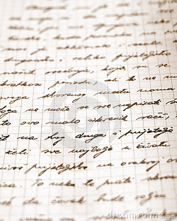 Part of a very old letter