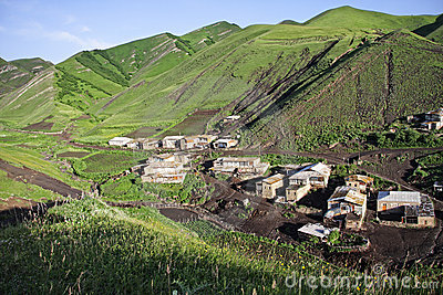 Part of village in mountains