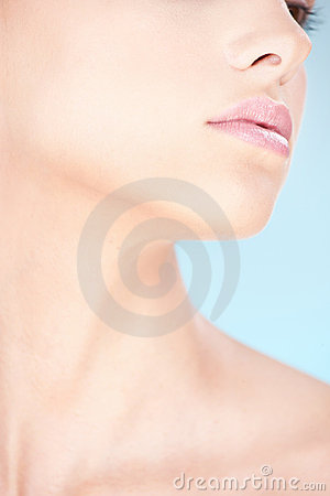 Part of a woman s face