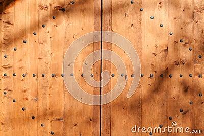 Part of wooden door