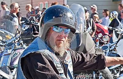 Partcipant Biker of 28th Annual Oyster Editorial Stock Photo