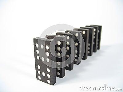 Parte anteriore di riga di domino