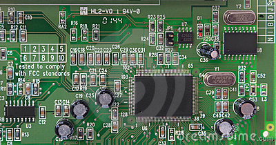 Parte da placa do printed-circuit do PWB