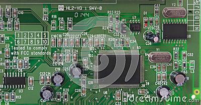 Parte da placa do printed-circuit do PWB