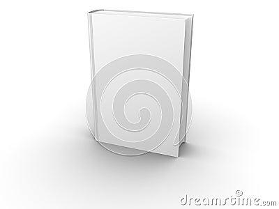 Parte dianteira em branco isolada do livro