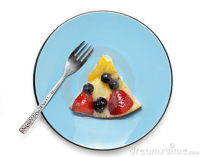 Parte do bolo da fruta