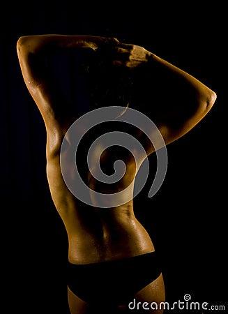 Parte posteriore adatta della donna