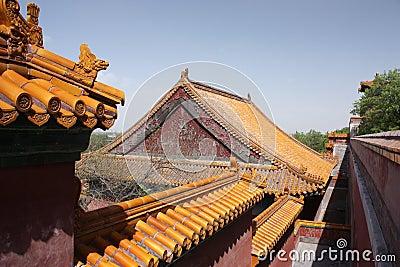 Parte superior do telhado