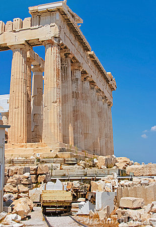 Parthenon of Acropolis in Athens