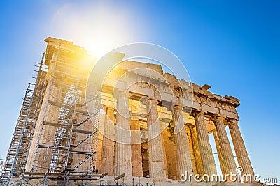 Parthenon in Acropolis, Athens
