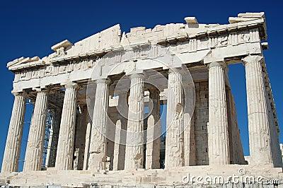 Parthenon Against a Blue Sky