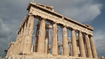Parthenon - antique temple in Athenian Acropolis in Greece. Dedicated to the goddess Athena, whom the people of Athens considered their patron