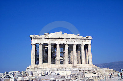 Parthenon - frontal view Stock Photo