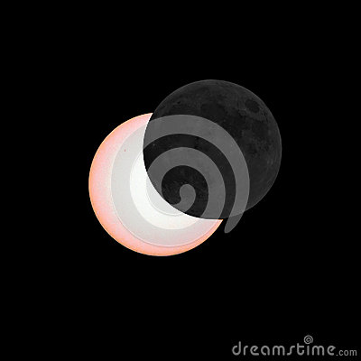 Free Partial Eclipse Of The Sun Stock Photo - 53197640