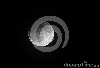 Partial Lunar eclipse on 25 April 2013 at 23:00:33, Bahrain