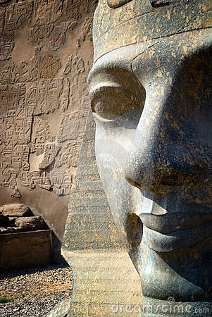 Partial Pharaoh face carving