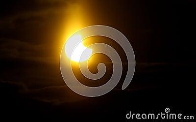 Partial solar Eclipse Editorial Stock Image