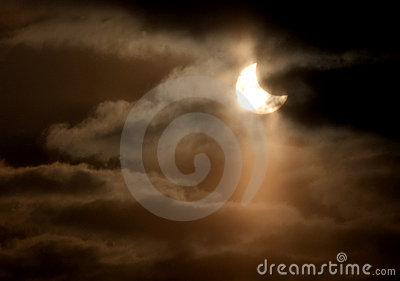 Partial solar Eclipse Editorial Stock Image