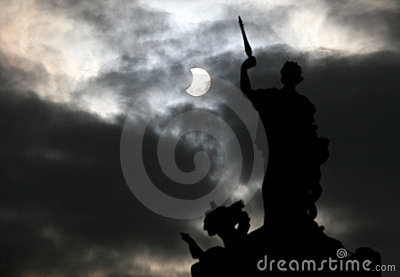 Partial solar Eclipse Editorial Stock Photo