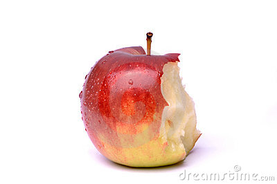 Partially Eaten Apple Royalty Free Stock Photography - Image: 13359177